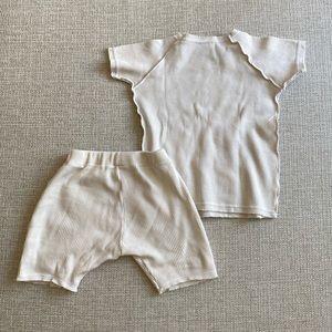Ribbed cotton set